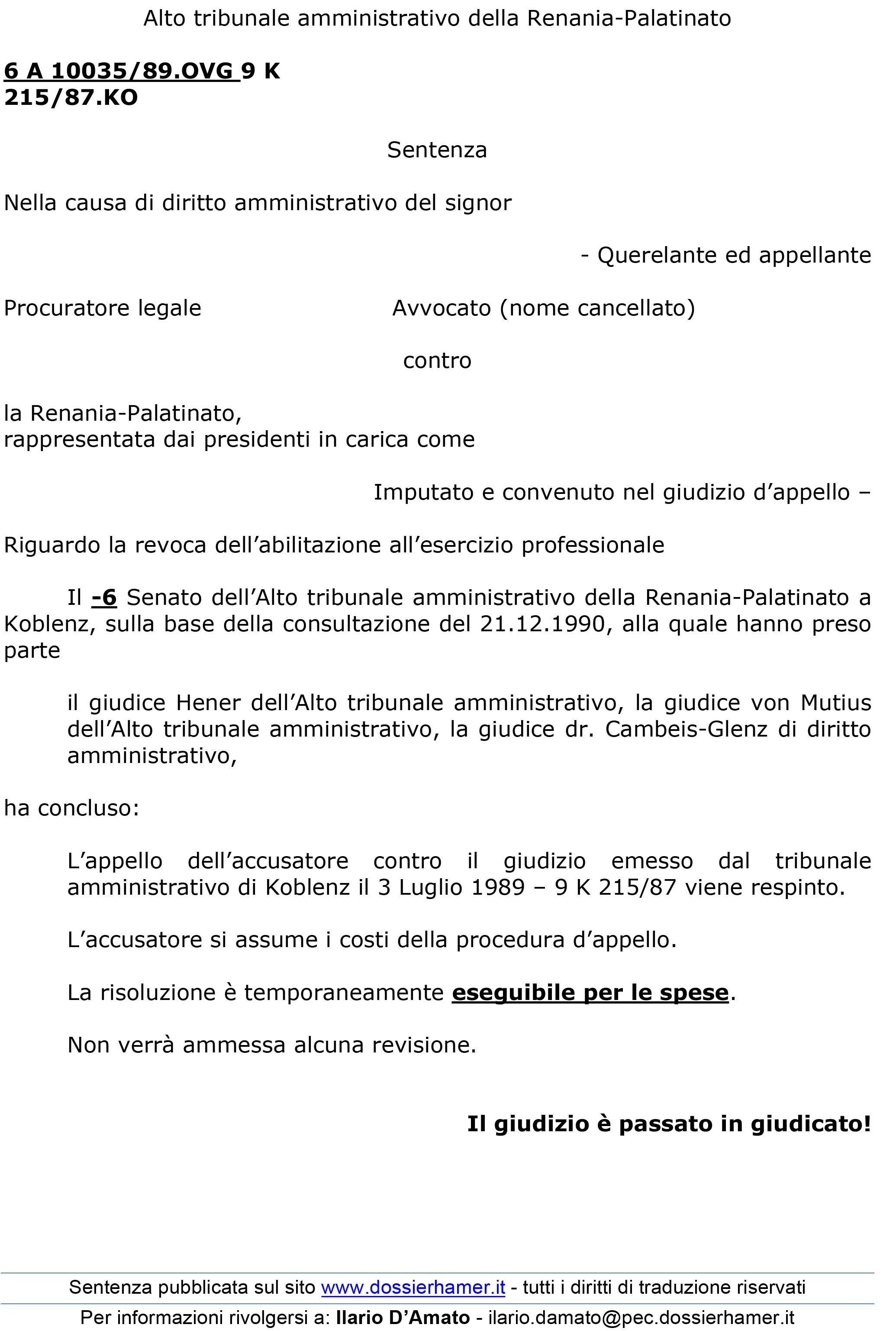 Coblenza 1990